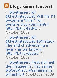 Blogtrainer-twittert