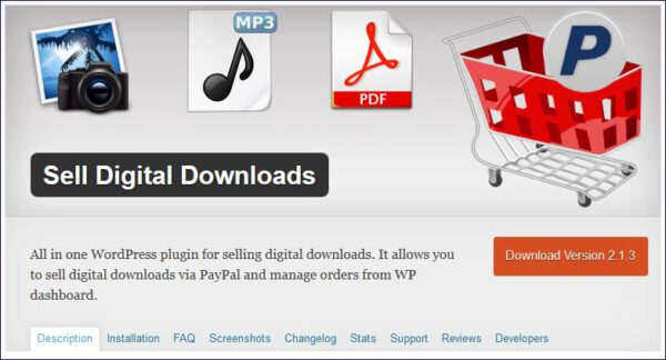 sell digital download