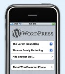 WordPress auf dem iPhone