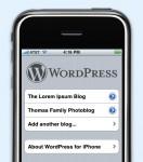 WordPress auf dem iPhone