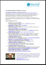22 wichtige WordPress Plugins (PDF, 40 KB)