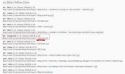 Google Bot und MSN Bot