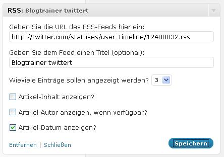 Twitter-per-RSS