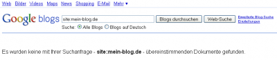 Blogsearch No Result
