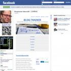 Homepage mit allen Funktionen in Facebook eingebettet