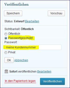 passwordschutz