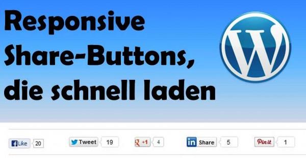 Dieses #WordPress-Plugin erzeugt #Share-Buttons die responsive sind und schnell laden