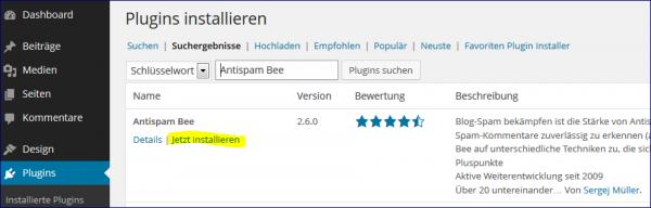 antispam-bee-installieren